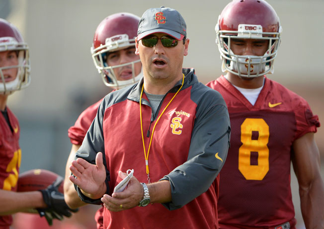 After going 34-29 in five years at Washington, Steve Sarkisian was hired as USC's coach last December.