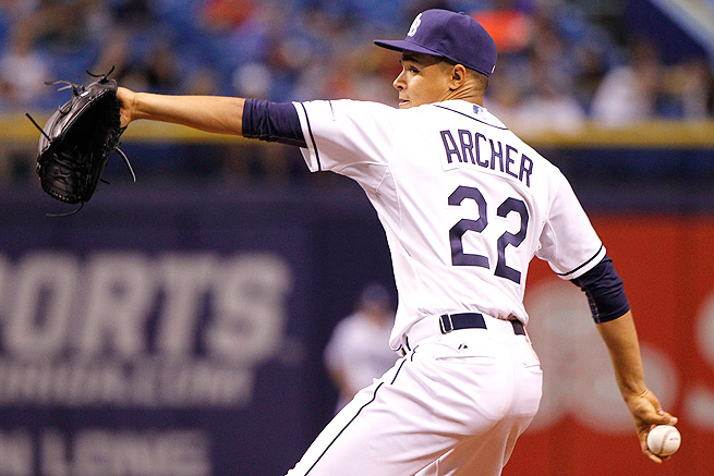 Chris Archer tossed seven strikeouts in six innings during his first start of 2014 against Toronto.