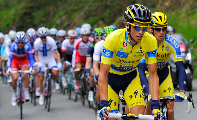 Former Tour de France champion Alberto Contador retained the overall lead at the Tour of Basque Country.