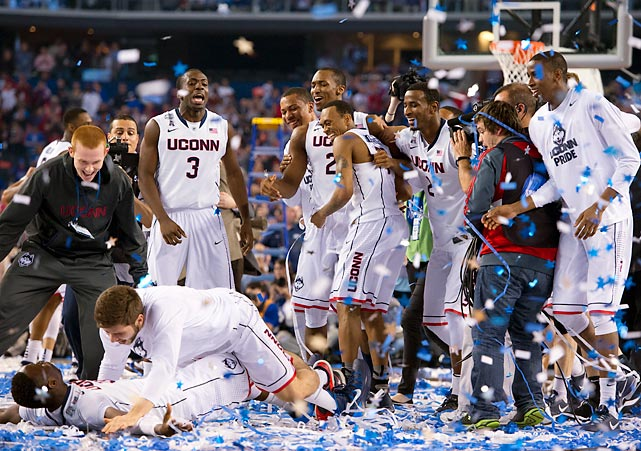Behind Shabazz Napier, Ryan Boatright and DeAndre Daniels, UConn defeated Kentucky in the NCAA national championship game for the school's second title in four years. It was an improbable run to the top for seventh-seeded UConn. After squeaking past St. Joe's in the first round, the Huskies reeled off wins over Villanova, Iowa State, Michigan State and Florida.