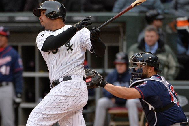 Jose Abreu has eight hits in his first 32 major league at-bats, including five for extra bases.