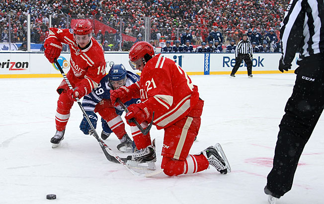 Whiz kid forwards Gustav Nyquist (14) and Tomas Tatar (21) paid their dues in Detroit's system.