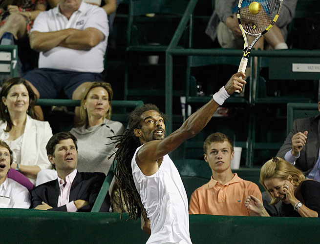 Dustin Brown's win over John Isner at the Clay Court Championships was his first vs. a top-10 player.