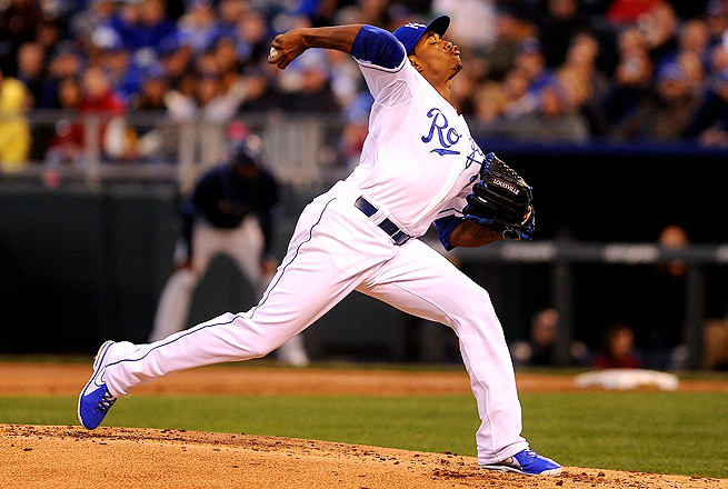 Yordano Ventura racked up six strikeouts in six innings vs. the Rays in his fourth-ever career start.