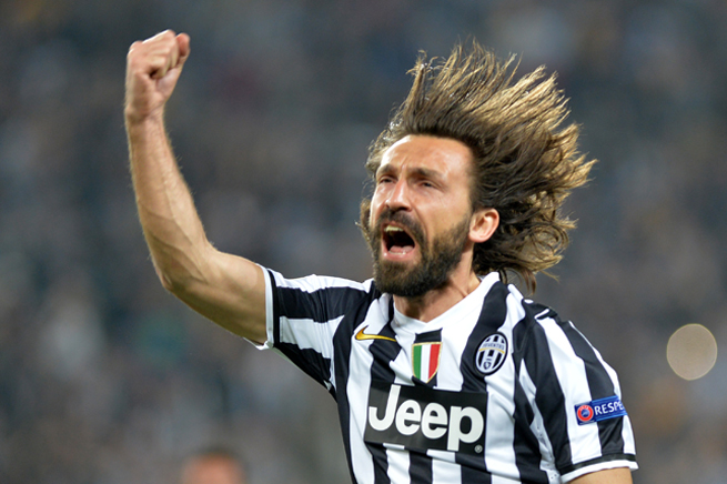 Andrea Pirlo leads Juventus into the semifinals of the Europa League, where it will face off against Benfica.