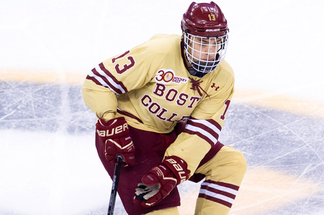 Gaudreau led the nation with 36 goals and 44 assists. He's the first player to reach 80 points since Colorado College's Peter Sejna had 82 in 2002-03.