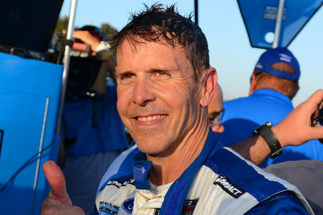 Scott Pruett turned in a lap in 1 minute, 15.325 seconds in his Riley prototype to claim the pole.