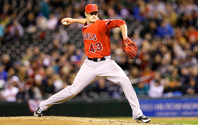 Through 12 innings pitched this season, Garrett Richards has a 0.75 ERA and 13 strikeouts.