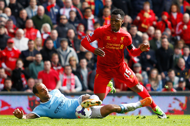 Liverpool striker Daniel Sturridge has just a small strain in his hamstring after being injured in the club's win over Manchester City on Sunday.