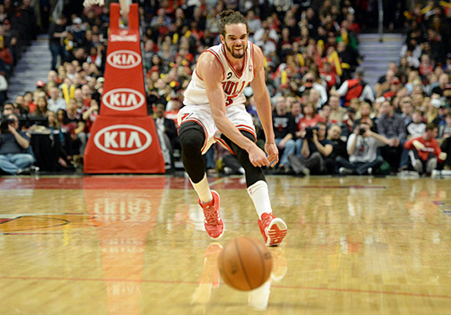 Joakim Noah has taken on more playmaking duties in the absence of Derrick Rose and Luol Deng.