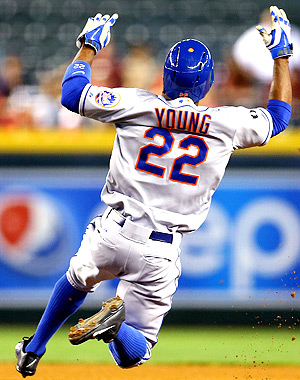 Eric Young stole two bases against the Diamonbacks on Wednesday night.