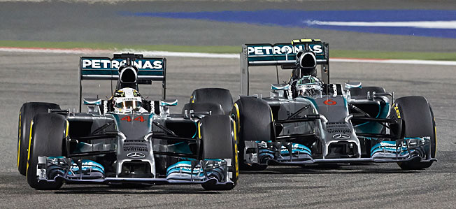 Dominating F1, Nico Rosberg and Lewis Hamilton have stuck to each other like spandex on a fat man.