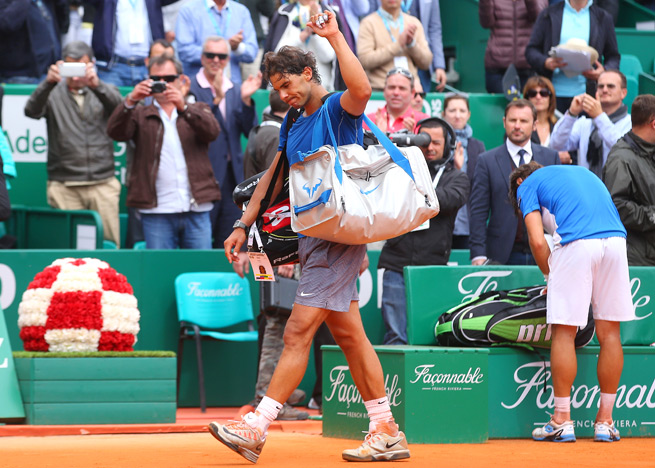This is just the second time that David Ferrer has ever beaten Rafael Nadal on clay courts.