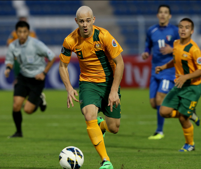 Dylan Tombides, above playing for Australia in January's U-22 Asian championship, died from cancer. He was 20 years old.