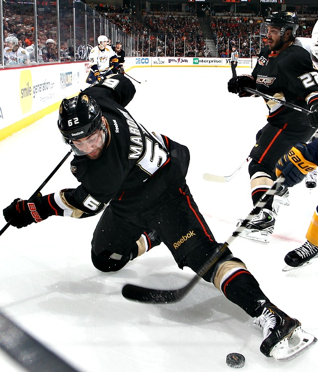 In his first full NHL season, Maroon has been a good fit on any line. He tallied 11 goals and 29 points in 62 games while playing anywhere in the Ducks; lineup, from their first to their fourth line and he brings a nice blend of size, speed and grit. Maroon could become one of the next generation of power forwards in the league.