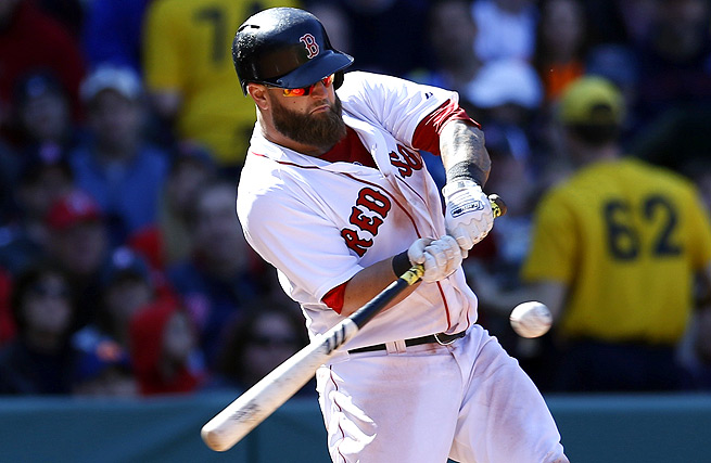 Mike Napoli dislocated his finger last week, forcing him to sit a game in order to let it heal.