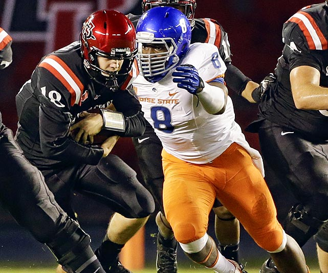 An under-the-radar guy, Demarcus Lawrence has a legitimate shot to leapfrog several players and land in Round 1. A transfer to Boise State in 2012 from Butler Community College, Lawrence recorded 9.5 sacks in his first Broncos season and then 10.5 last year. He also totaled 34 tackles-for-loss, a whopping 20.5 coming in his second and final Boise State season. The 6-3, 251-pounder also fits that hybrid 3-4 OLB/4-3 DE mold, though the former may be a better path out of the gate. <italics>Draft projection: Late Round 1-Round 3</italics>