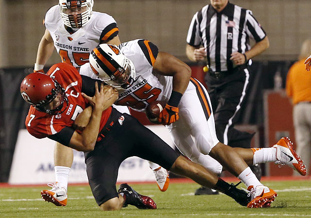 Scott Crichton, a 6-3, 273-pound Oregon State product, chalked up 7.5 sacks last season and 22.5 over his three-year career. Some might argue that Crichton should have stuck it out in school for his senior year, but he already has the strength and experience to be a legitimate Day 2 selection. For a team willing to ease him into the lineup, the payoff should be huge. <italics>Draft projection: Round 2</italics>