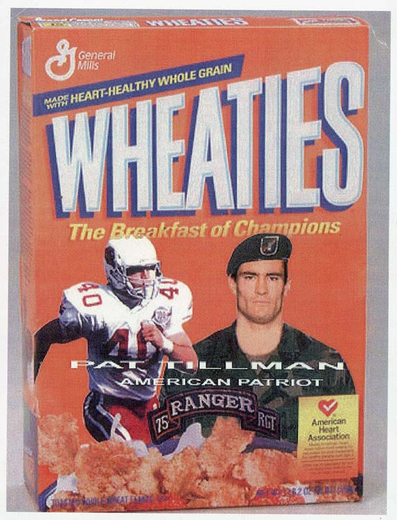 Wheaties put out a special box in Tillman's honor.