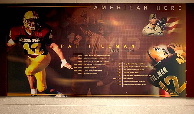 One of Arizona State's many tributes to Tillman
