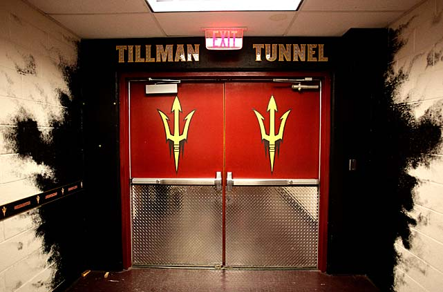 The Tillman Tunnel at Sun Devil Stadium.
