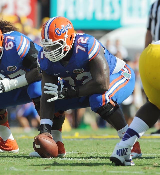 Another powerful interior lineman, Jonotthan Harrison can open up space directly in front of him about as well as anyone. It was when he has to go side-to-side or react to a complex defensive call that he struggled at Florida. There should be a home for him in the NFL, at least as a player capable of stepping in at center or guard. Draft projection: Round 7 > <bold>GALLERY: Top 10 Quarterbacks in the NFL Draft</bold> <bold>> </bold><bold>GALLERY: Top 10 Running Backs in the NFL Draft</bold> <bold>> </bold><bold>GALLERY: Top 10 Wide Receivers in the NFL Draft</bold> <bold>> </bold><bold>GALLERY: Top 10 Tight Ends in the NFL Draft</bold> <bold>> </bold><bold>GALLERY: Top 10 Tackles in the NFL Draft</bold> <bold>> GALLERY: Top 10 Guards in the NFL Draft</bold>