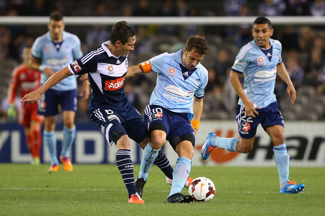 Players like Italian great Alessandro Del Piero, center right, have made their way to Australia's A-League after accomplished careers in Europe.