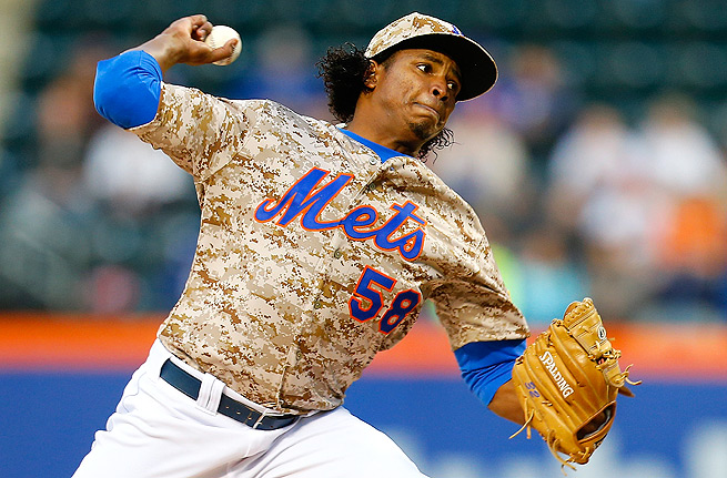 If Jenrry Mejia can keep his walks under control, he may become a top-40 fantasy starter this year.