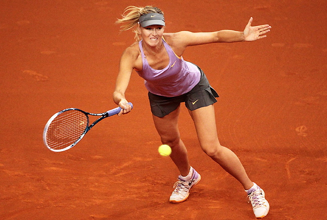 Maria Sharapova was on court for three hours and 24 minutes against Lucie Safarova.