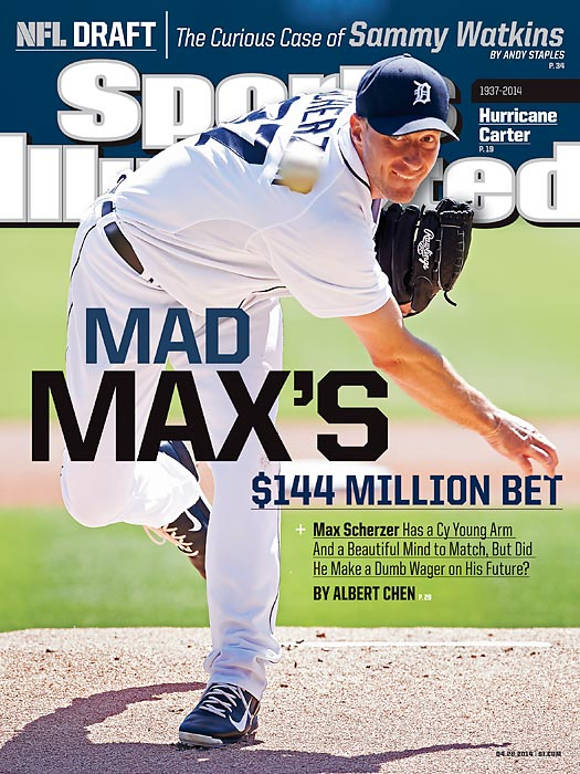 April 28, 2014  |  Why would a man turn down $144 million? In this week's cover story, that's the question Albert Chen asked Max Scherzer, who rejected a lucrative extension offer from the Detroit Tigers.