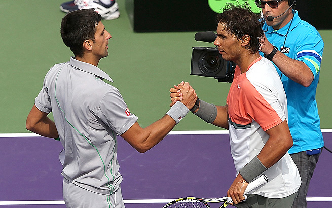 Novak Djokovic toppled Nadal in the Sony Open final, but his wrist injury may slow him down.