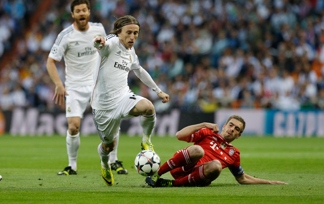 Real Madrid midfielder Luka Modric was a picture of poise and precision in the club's 1-0 victory over Bayern Munich in the first leg of the Champions League semifinals on Wednesday.
