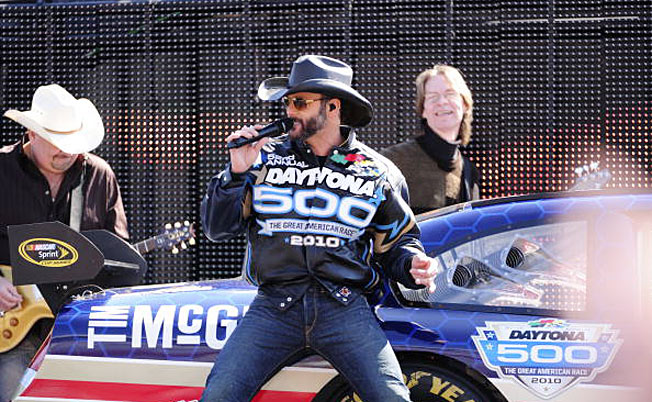 Fast times: Tim McGraw has been taking some pretty racy cars for a spin.