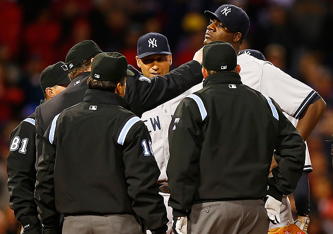 Michael Pineda suffered the ignominy of getting caught with pine tar for the second time in a month.