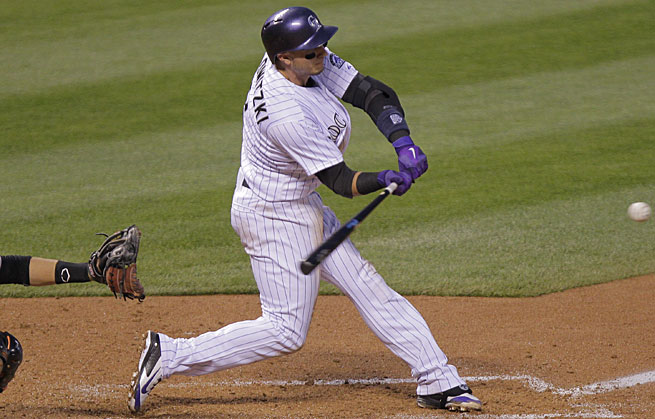 Troy Tulowitzki leads the NL in OPS, a good sign he'll be in the running for the NL MVP award all season.