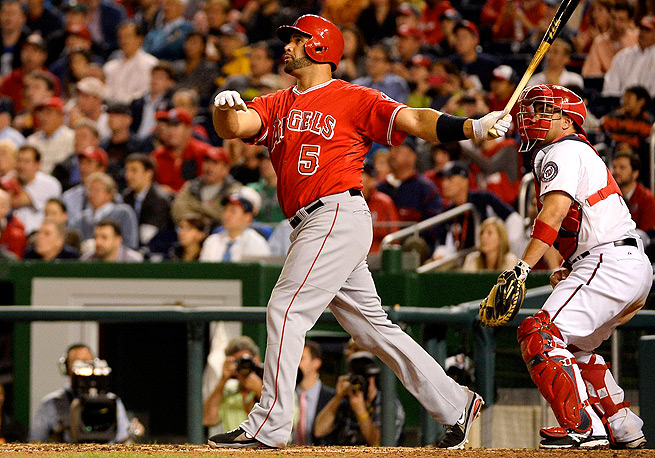 Albert Pujols hit his 499th and 500th career home runs on Tuesday night against the Nationals.