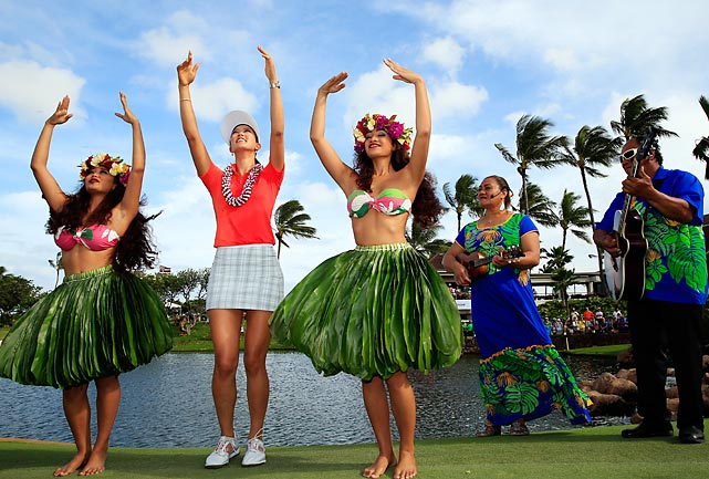 Wie believe she be doin' the Hula after her triumph in LPGA's whole LOTTE Championship Presented by J Golf in Kapolei, Hawaii.