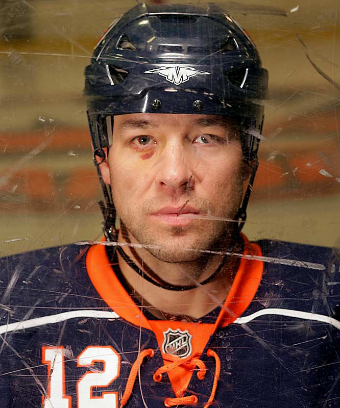 While with the New York Islanders in 2007, the notorious enforcer proudly displayed the battle scars of his rugged 16-year hitch in the NHL.