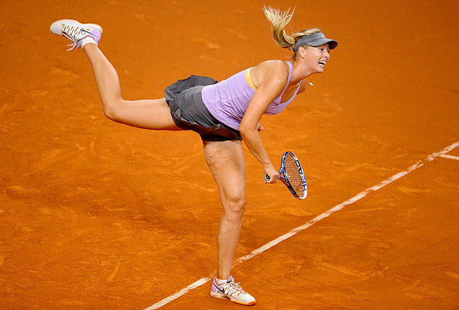 Maria Sharapova bounced fellow Russian Anastasia Pavlyuchenkova 6-4, 6-3 in the Porsche Grand Prix.