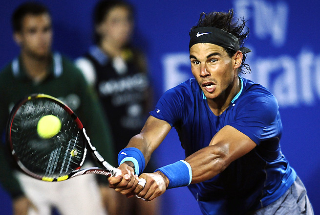 Rafael Nadal will take on Nicolas Almagro in the Barcelona Open quarterfinals.