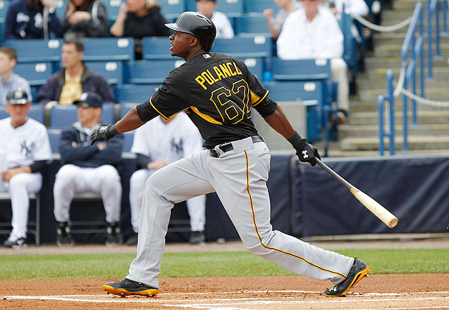 In 20 games at Triple A this season, Gregory Polanco is hitting .420/.460/.679 with four home runs.