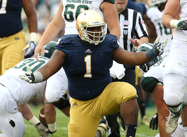At 6-foot-2, 321-pounds, Louis Nix III is a more traditional nose tackle. He works very well when asked to soak up blockers in the middle of a front, allowing others to rush through and make plays. But this is no big fatty ? when he's healthy (which he was in 2012, and not so much in 2013), Nix can also disrupt on his own. Two seasons ago, he put up 50 tackles, 7.5 tackles for loss and two sacks, pretty impressive for a guy who faces double teams all the time. With the right kind of coaching staff and a strong locker room, Nix could dominate in a B.J. Raji fashion. <italics>Draft projection: Round 1</italics>
