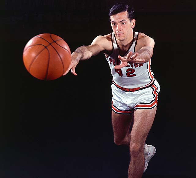 Princeton's Bill Bradley during an SI cover shoot. The Tigers fought their way to a Final Four berth and finished third on the strength of Bradley's effort in a tournament in which he was named most outstanding player.