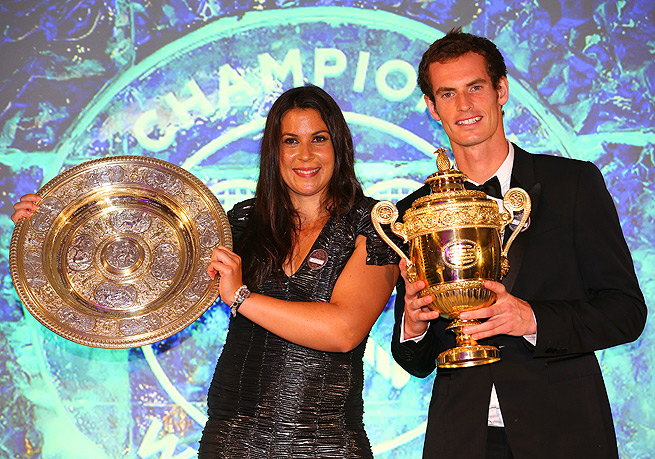 Marion Bartoli and Andy Murray each won their first Wimbledon singles titles in 2013.