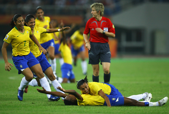 Brazil's women's national team has enjoyed success, but the development of the women's game in the country is still very much an issue.