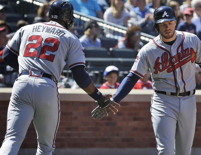 Jason Heyward and Freddie Freeman were both drafted by Atlanta in 2007, 64 spots apart.
