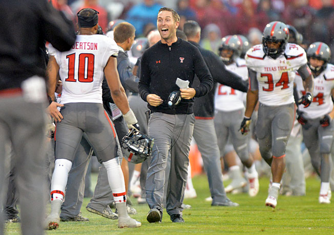 After going 8-5 last season, head coach Kliff Kingsbury and Texas Tech will eye a Big 12 title in 2014.