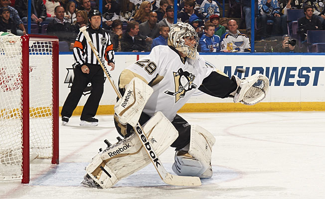 The pits in Pittsburgh no more, Marc-Andre Fleury has been regaining his teammates' confidence.