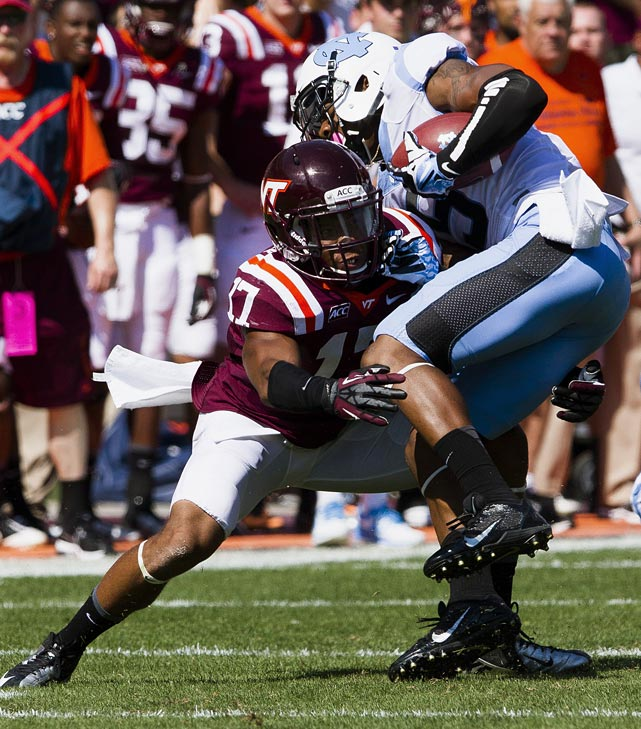 Just how high can Kyle Fuller climb? Once a rather clear Day 2 candidate, Fuller's work at the combine (4.49 40, 4.19 short shuttle, 128-inch broad jump) put to rest lingering concerns over his health ? the Virginia Tech product needed sports hernia surgery in November, then sat out the Senior Bowl while rehabbing. Now that he has made his way back on the field, Fuller has climbed into the Round 1 mix, even surpassing every prospect but possibly Justin Gilbert in some eyes. <italics>Draft projection: Late Round 1-Round 2</italics>