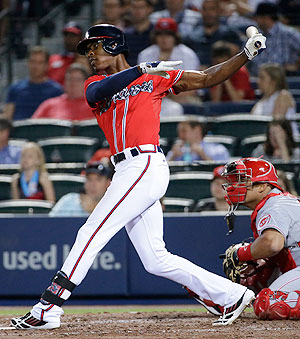 B.J. Upton's batting average is up to .214 after another nightmarish start in Atlanta.